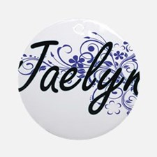 Jaelyn Artistic Name Design with Fl Round Ornament