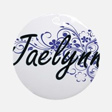 Jaelynn Artistic Name Design with F Round Ornament