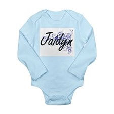 Jaidyn Artistic Name Design with Flowers Body Suit