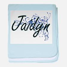 Jaidyn Artistic Name Design with Flow baby blanket