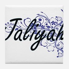 Jaliyah Artistic Name Design with Flo Tile Coaster