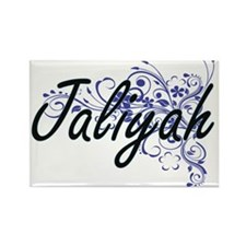 Jaliyah Artistic Name Design with Flowers Magnets