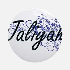 Jaliyah Artistic Name Design with F Round Ornament