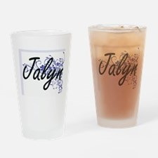 Jalyn Artistic Name Design with Flo Drinking Glass