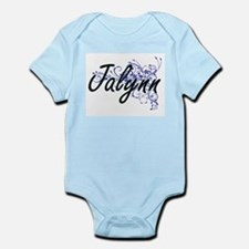 Jalynn Artistic Name Design with Flowers Body Suit