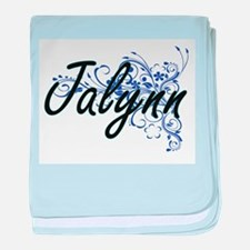 Jalynn Artistic Name Design with Flow baby blanket