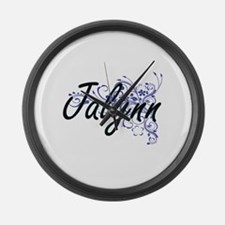 Jalynn Artistic Name Design with Large Wall Clock