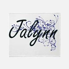 Jalynn Artistic Name Design with Flo Throw Blanket