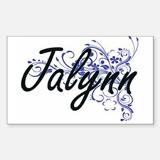 Jalynn Artistic Name Design with Flowers Decal