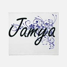 Jamya Artistic Name Design with Flow Throw Blanket