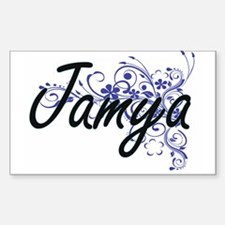 Jamya Artistic Name Design with Flowers Decal