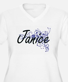 Janice Artistic Name Design with Plus Size T-Shirt