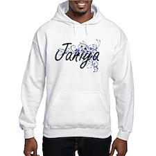 Janiya Artistic Name Design with Hoodie Sweatshirt