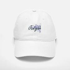 Janiyah Artistic Name Design with Flowers Baseball Baseball Cap