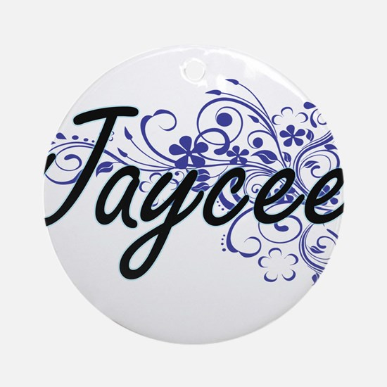 Jaycee Artistic Name Design with Fl Round Ornament