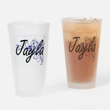 Jayla Artistic Name Design with Flo Drinking Glass