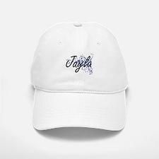 Jayla Artistic Name Design with Flowers Baseball Baseball Cap