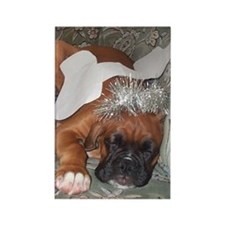 Boxer Dog Christmas Angel Rectangle Magnet