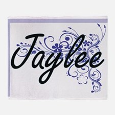 Jaylee Artistic Name Design with Flo Throw Blanket