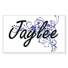 Jaylee Artistic Name Design with Flowers Decal