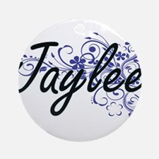 Jaylee Artistic Name Design with Fl Round Ornament