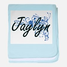 Jaylyn Artistic Name Design with Flow baby blanket