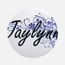Jaylynn Artistic Name Design with F Round Ornament