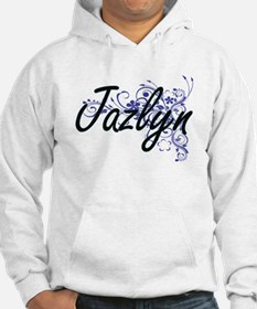Jazlyn Artistic Name Design with Hoodie