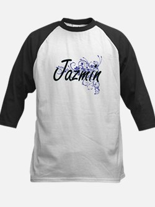 Jazmin Artistic Name Design with F Baseball Jersey
