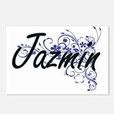 Jazmin Artistic Name Desi Postcards (Package of 8)