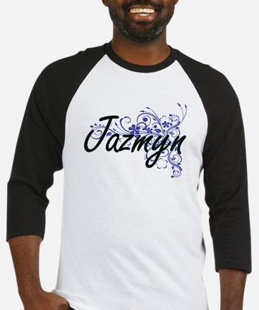 Jazmyn Artistic Name Design with F Baseball Jersey