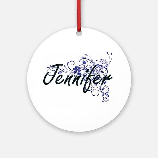 Jennifer Artistic Name Design with Round Ornament