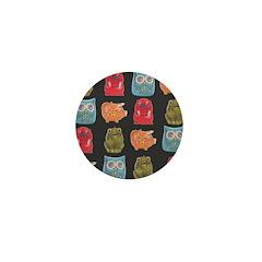 Retro Abstract Art Mini Button