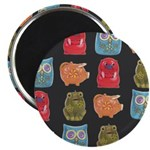 """Retro Abstract Art 2.25"""" Magnet (10 pack)"""