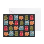 Retro Abstract Art Greeting Cards (Pk of 10)