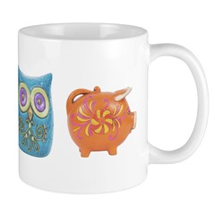 Retro Abstract Art Ceramic Coffee Mug