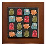 Retro Abstract Art Framed Tile