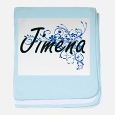 Jimena Artistic Name Design with Flow baby blanket