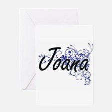 Joana Artistic Name Design with Flo Greeting Cards