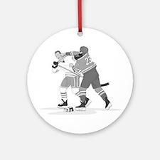 Cute Ice hockey Round Ornament