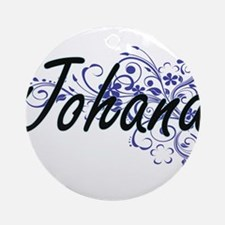 Johana Artistic Name Design with Fl Round Ornament