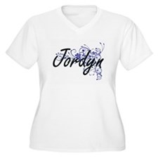 Jordyn Artistic Name Design with Plus Size T-Shirt