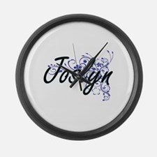 Joslyn Artistic Name Design with Large Wall Clock