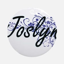 Joslyn Artistic Name Design with Fl Round Ornament