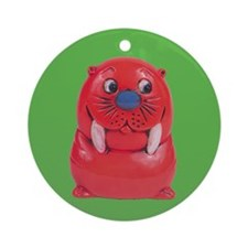 Vintage Toy Walrus Ornament (Round)