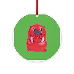 Vintage Toy Walrus Ornament (Round)