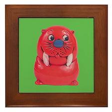 Vintage Toy Walrus Framed Tile