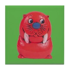 Vintage Toy Walrus Tile Drink Coaster