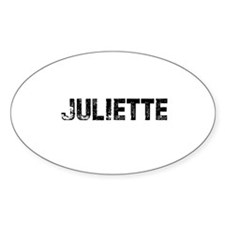 Juliette Oval Decal