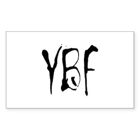 YBF Rectangle Sticker